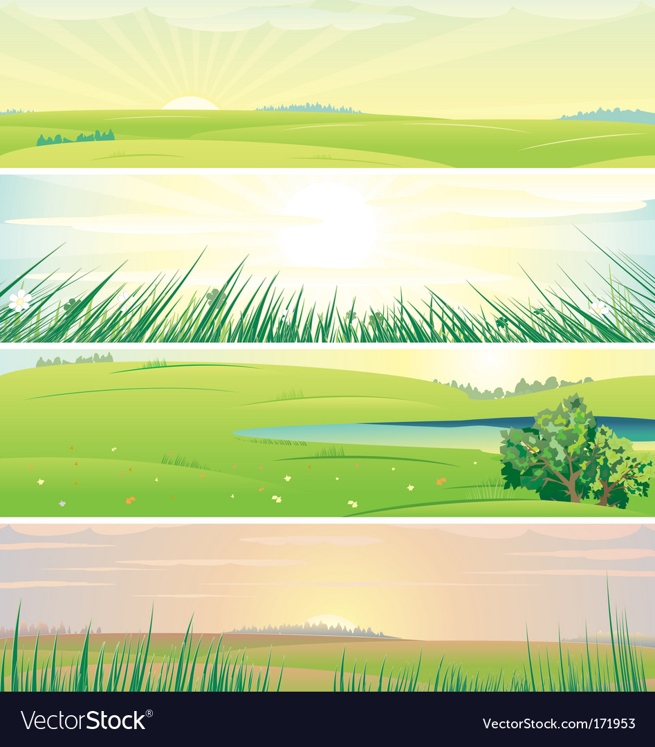 Summer panorama vector | Price: 1 Credit (USD $1)