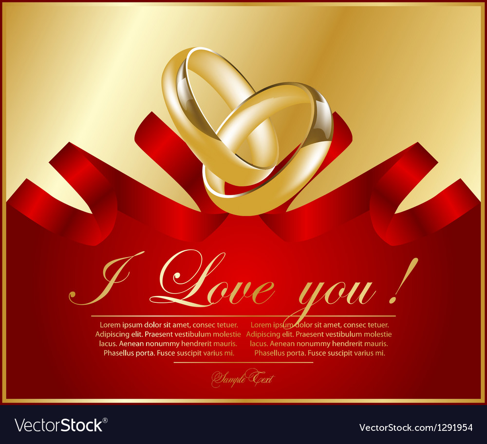 Abstract frame with wedding rings vector | Price: 1 Credit (USD $1)