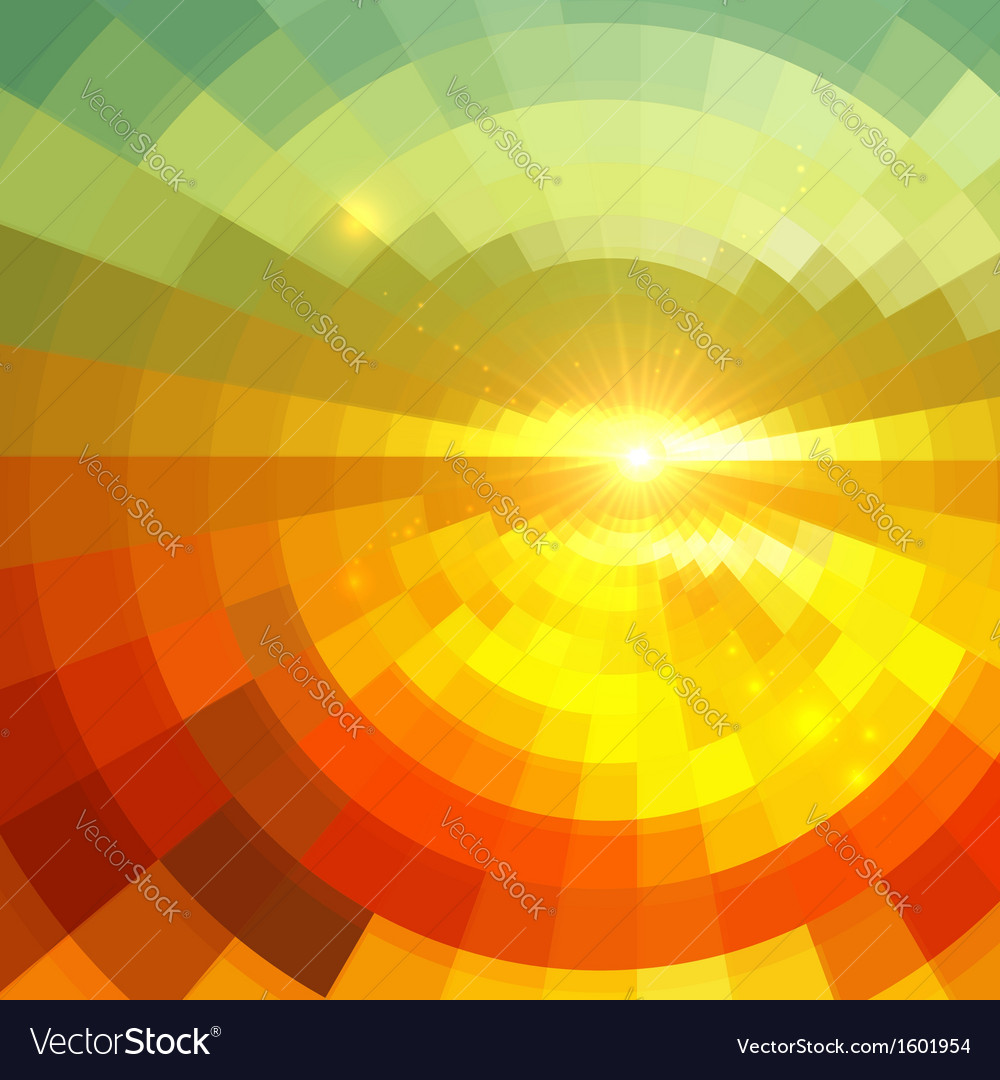 Abstract shining circle tunnel background vector | Price: 1 Credit (USD $1)