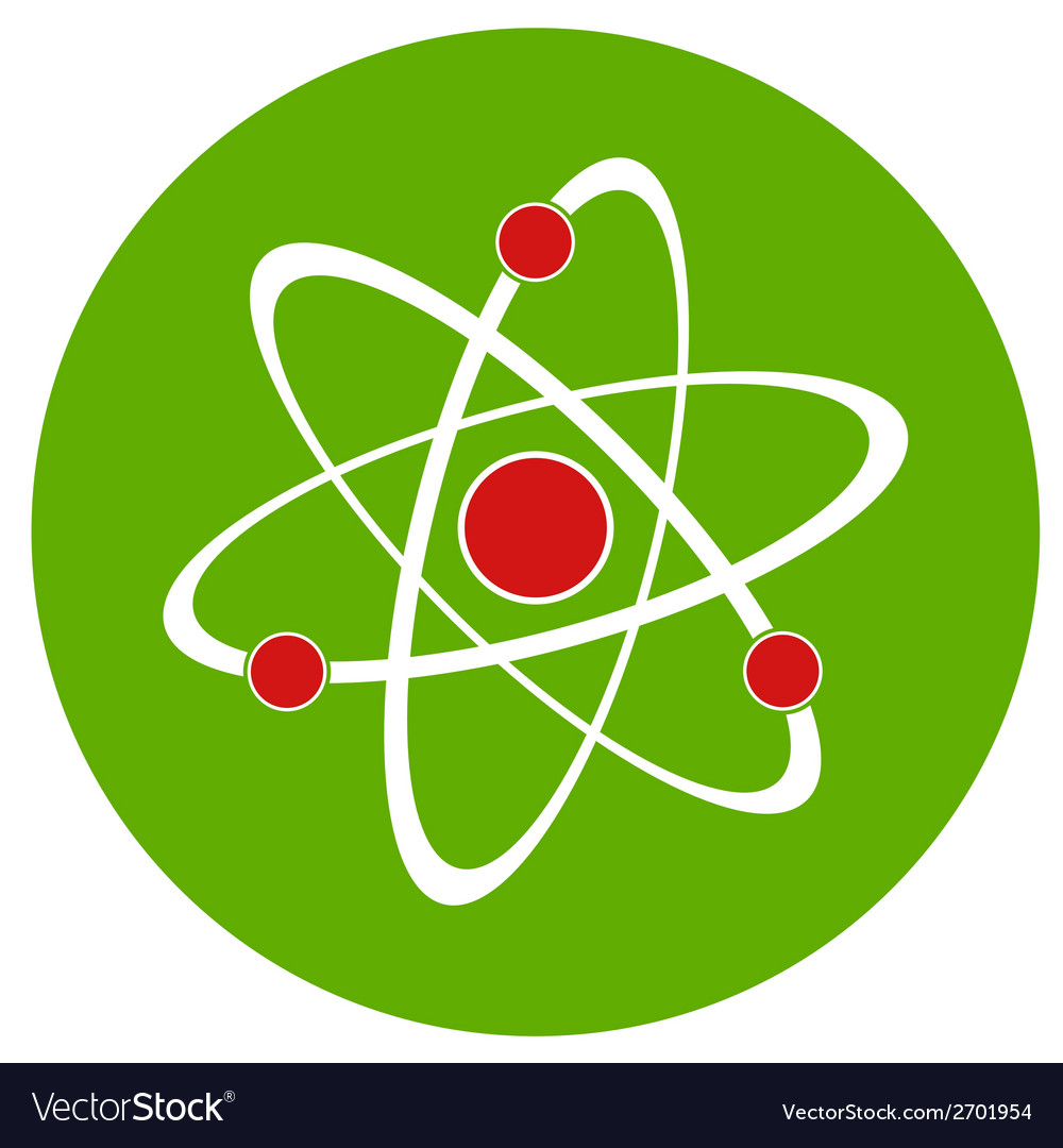 Atom sign icon vector | Price: 1 Credit (USD $1)