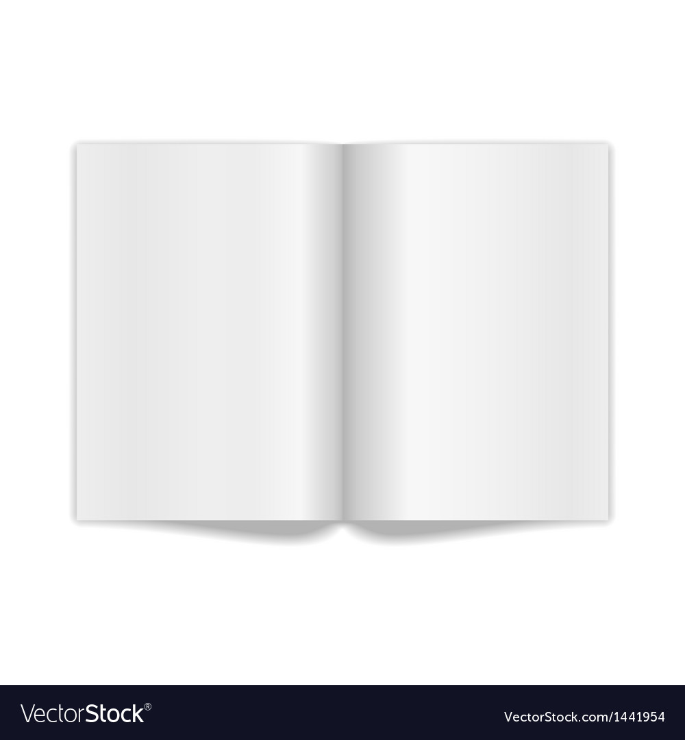 Book spread with blank white pages vector | Price: 1 Credit (USD $1)