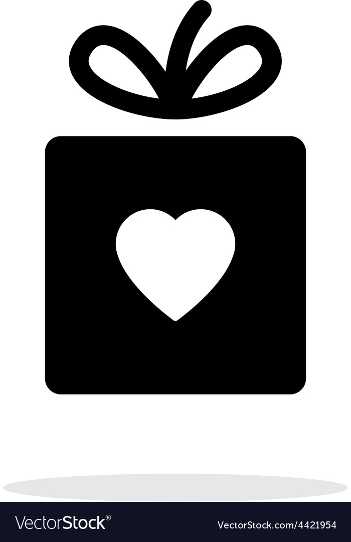 Box with heart iicon on white background vector | Price: 1 Credit (USD $1)