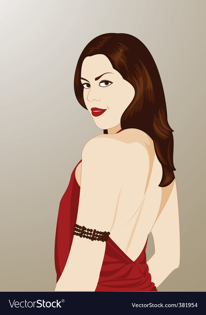 Cartoon brunette vector | Price: 3 Credit (USD $3)