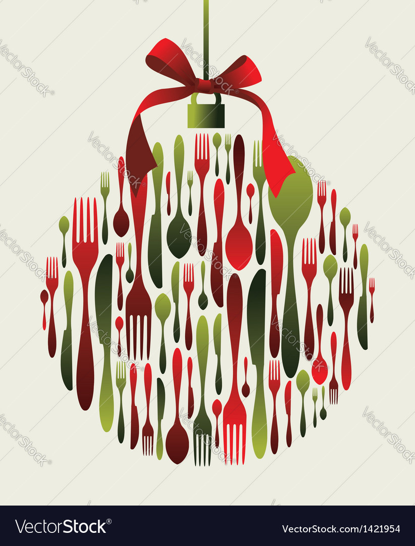 Christmas bauble cutlery vector | Price: 3 Credit (USD $3)