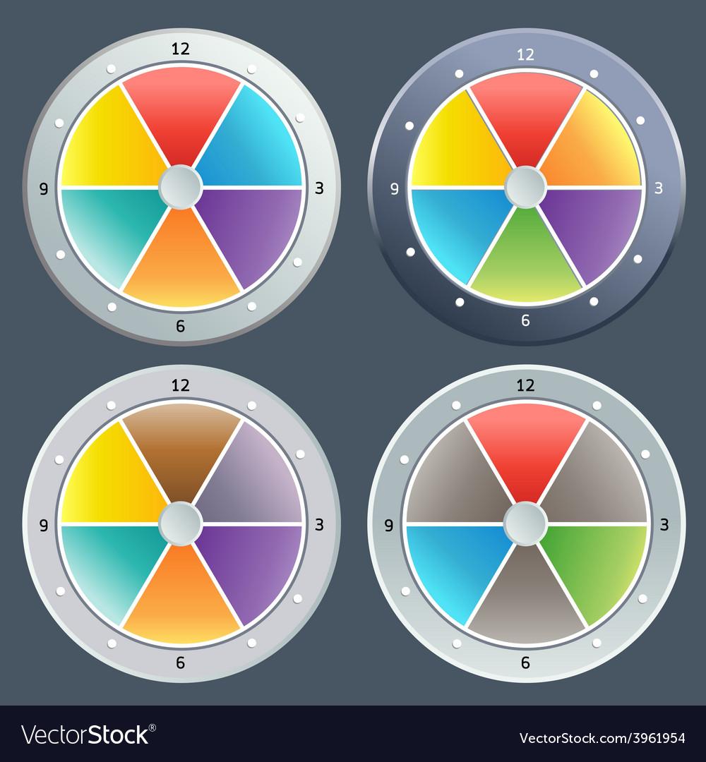 Color digital clock vector | Price: 1 Credit (USD $1)