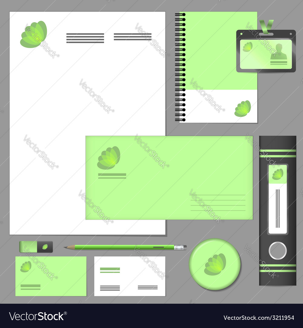 Corporate identity elements mockup vector | Price: 1 Credit (USD $1)