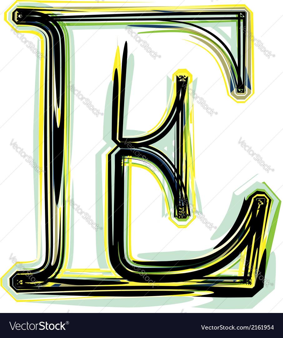 Font letter e vector | Price: 1 Credit (USD $1)