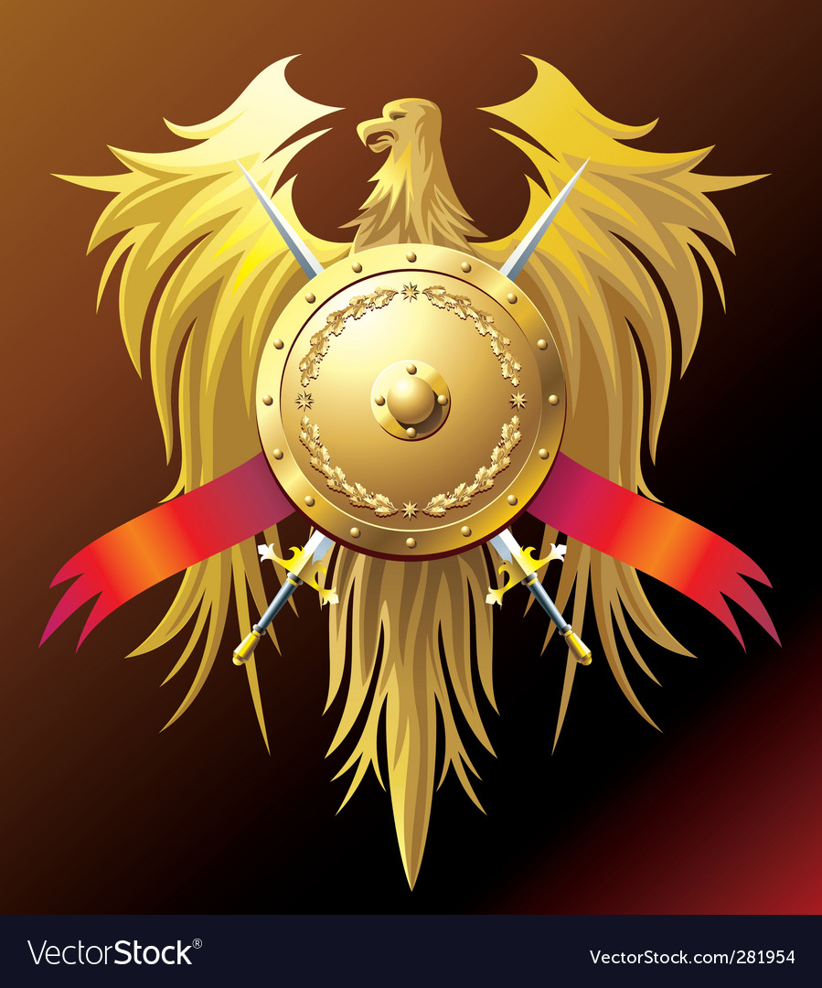 Gold eagle vector | Price: 1 Credit (USD $1)