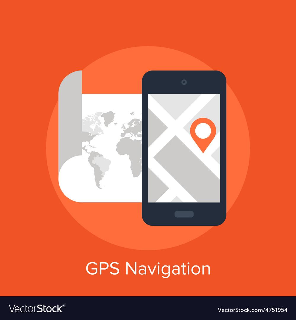 Gps navigation vector | Price: 1 Credit (USD $1)