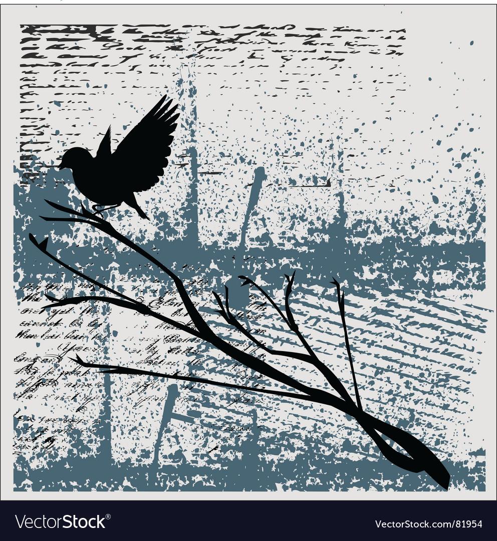 Grunge bird background vector | Price: 1 Credit (USD $1)