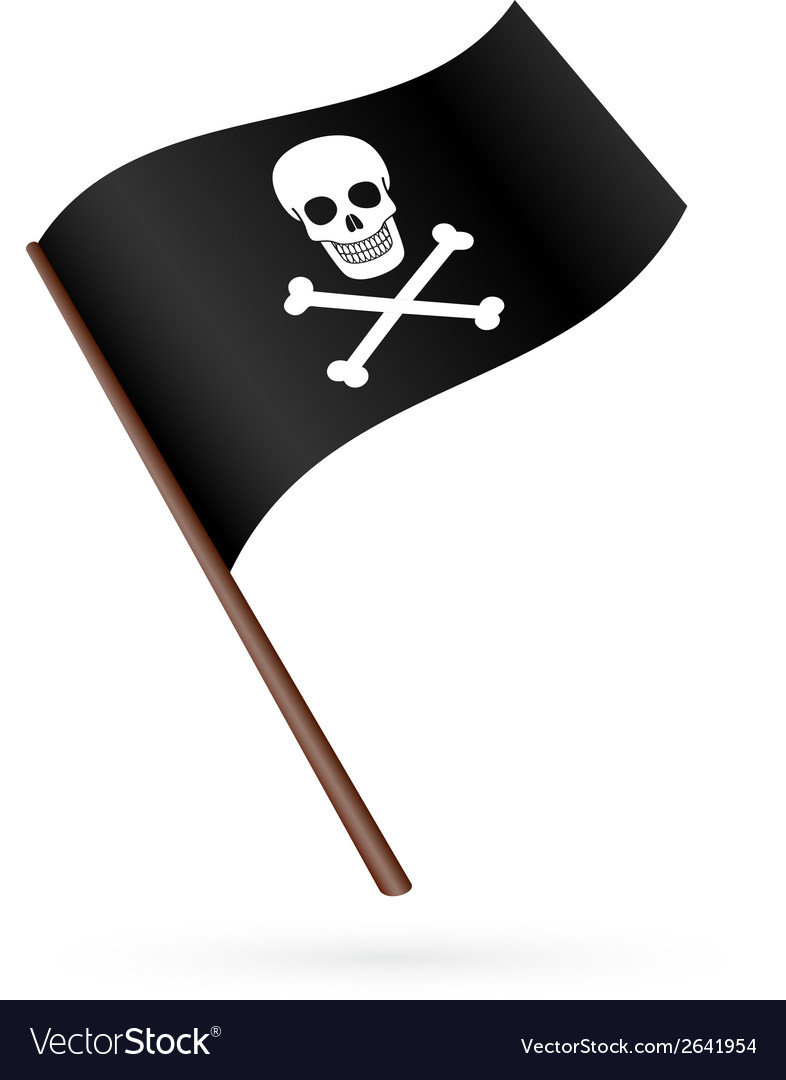 Pirate flag icon vector | Price: 1 Credit (USD $1)