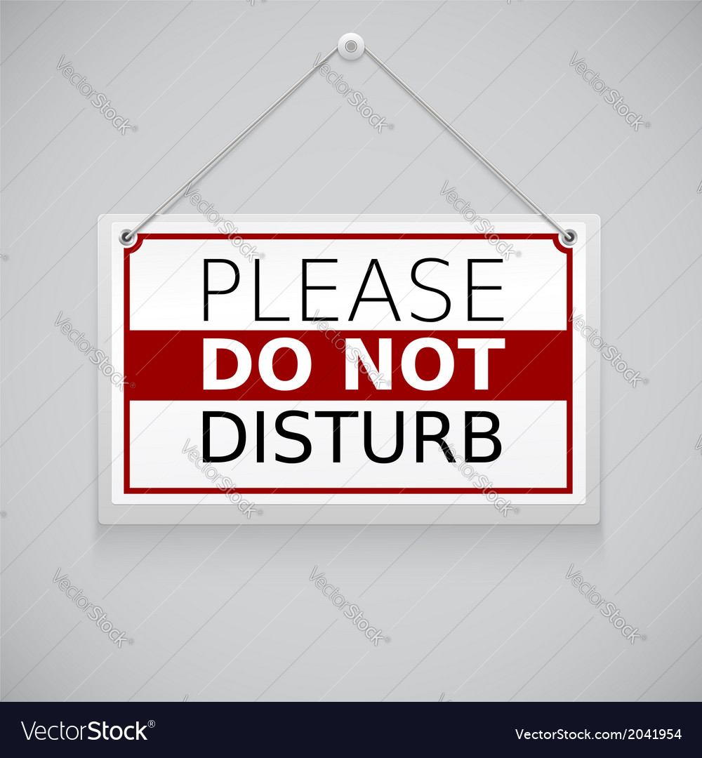 Please do not disturb sign hanging on the wall vector | Price: 1 Credit (USD $1)