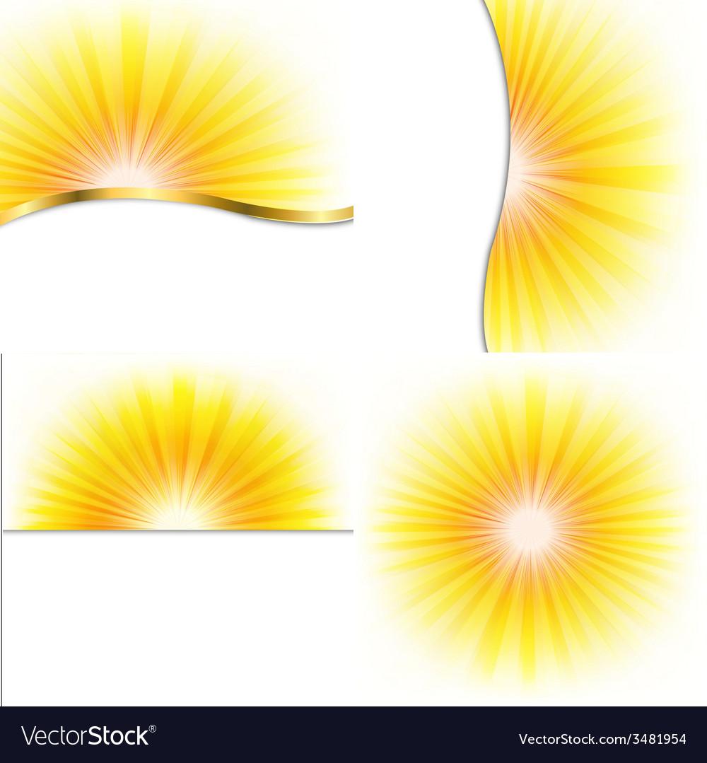 Summer beams set vector | Price: 1 Credit (USD $1)