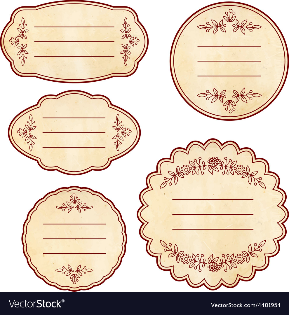 Vintage sticker vector | Price: 1 Credit (USD $1)
