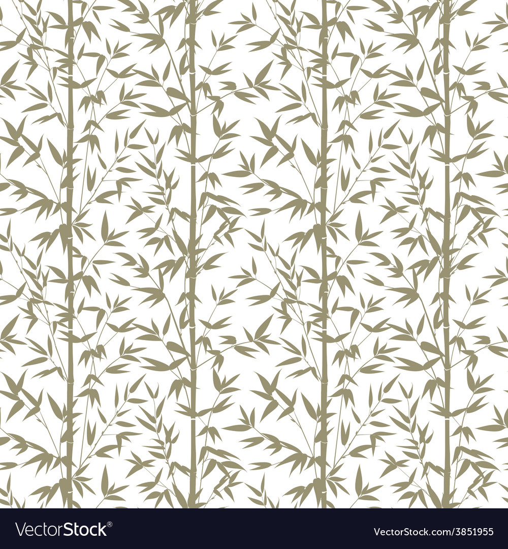 Bamboo seamless pattern vector | Price: 1 Credit (USD $1)
