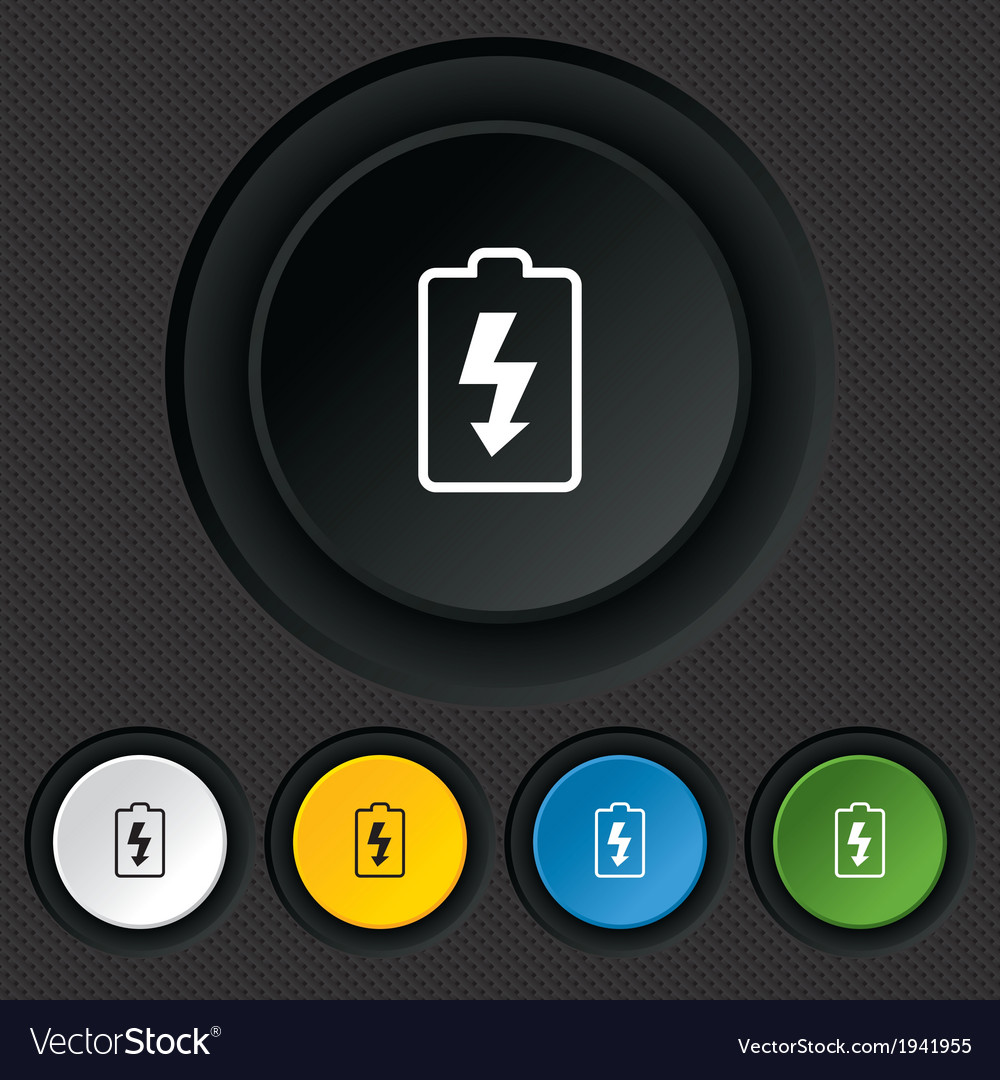 Battery charging sign icon lightning symbol vector | Price: 1 Credit (USD $1)