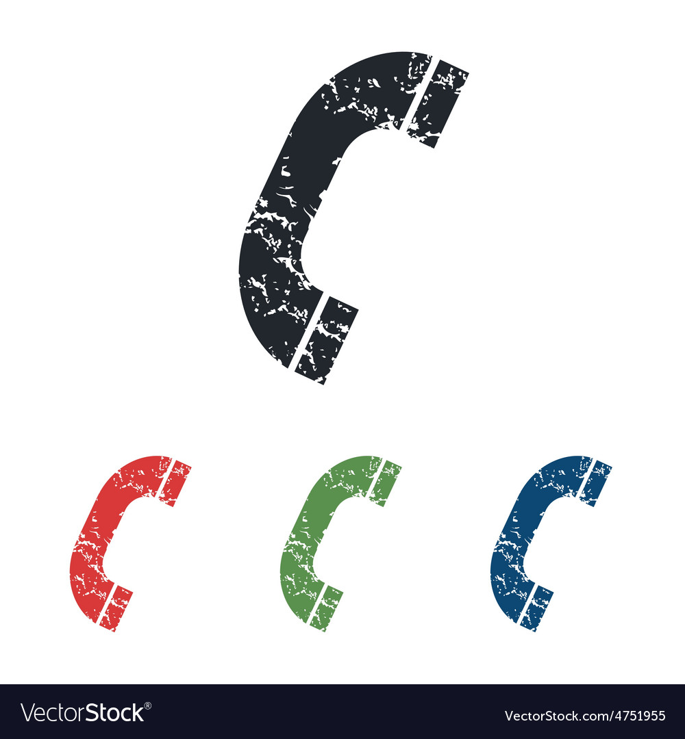 Call grunge icon set vector | Price: 1 Credit (USD $1)