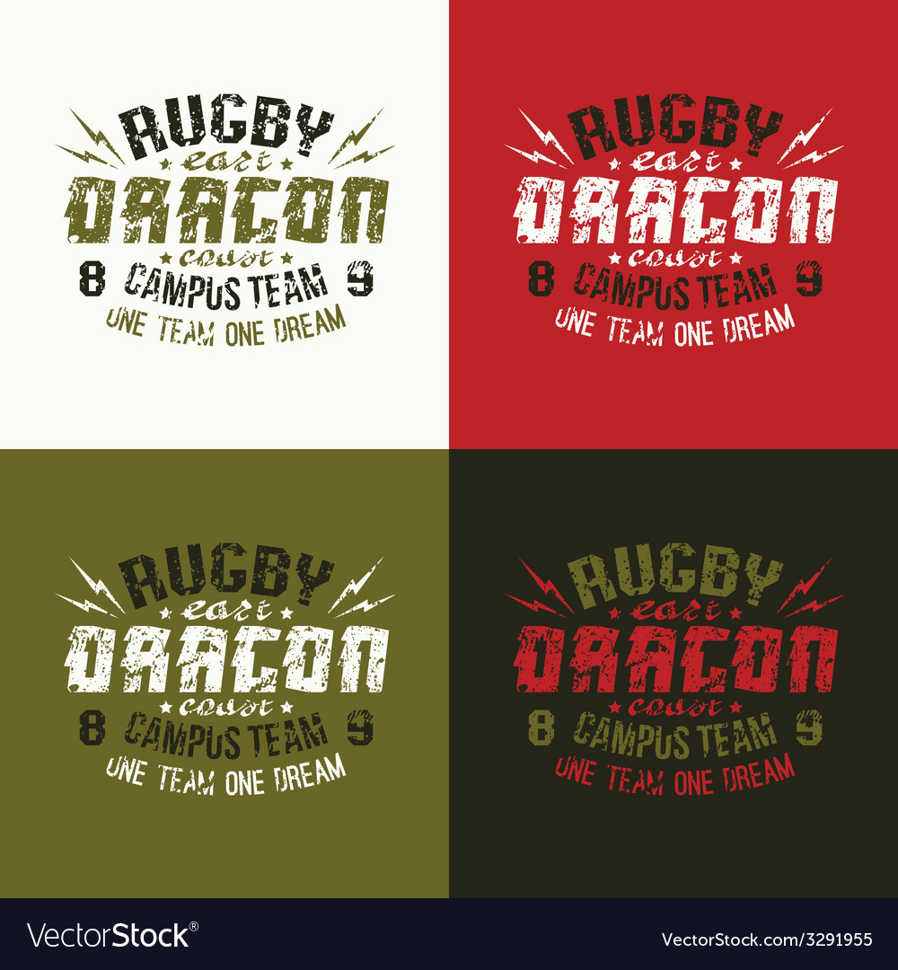 Campus rugby team emblem vector | Price: 1 Credit (USD $1)