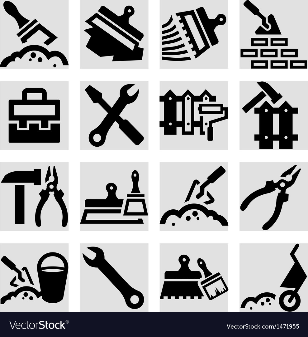 Construction and repair icons set vector | Price: 1 Credit (USD $1)