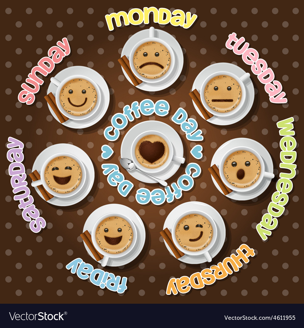 Face expression of cappuccino cup vector | Price: 1 Credit (USD $1)