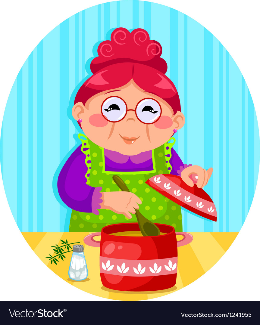 Grandmas cooking vector | Price: 3 Credit (USD $3)