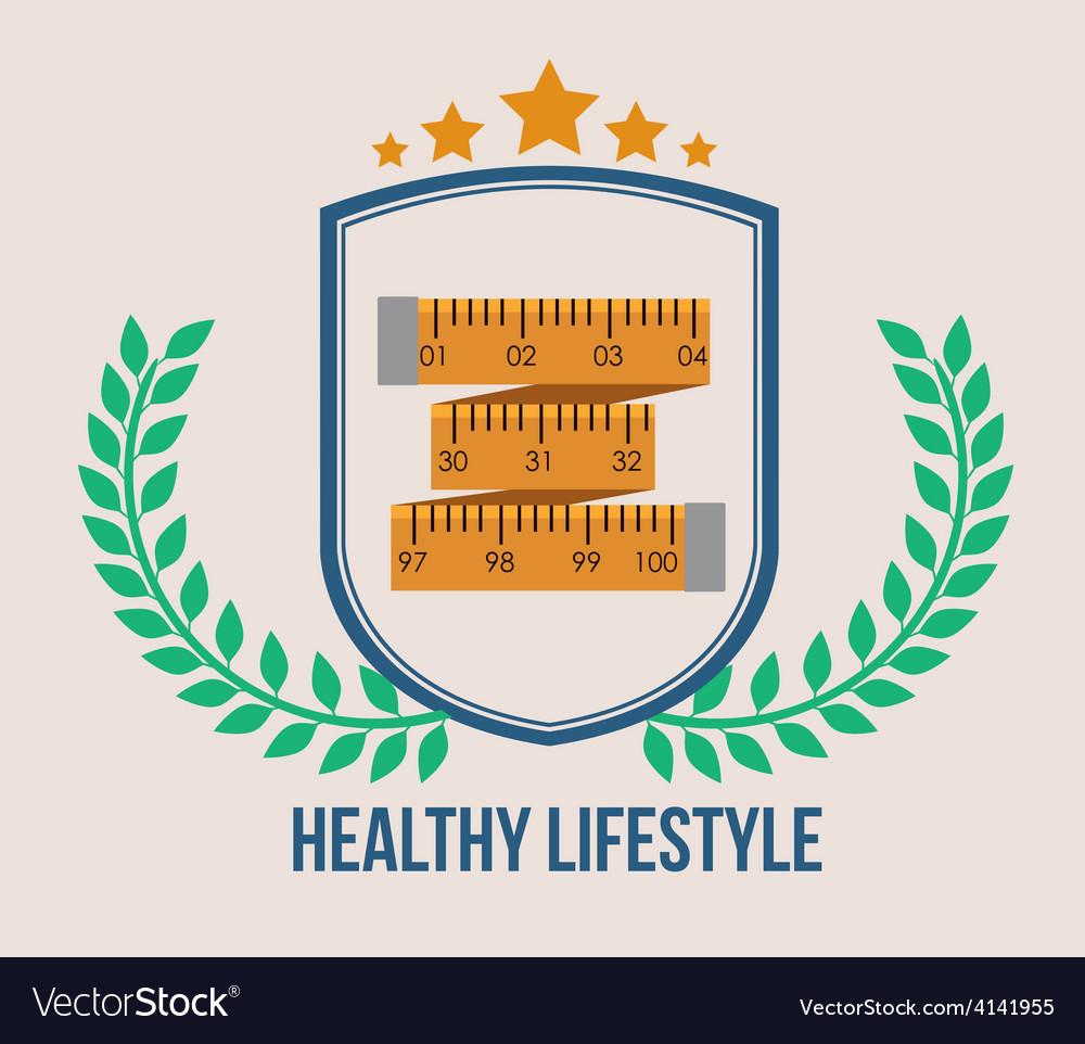 Healthy lifestyle design vector | Price: 1 Credit (USD $1)