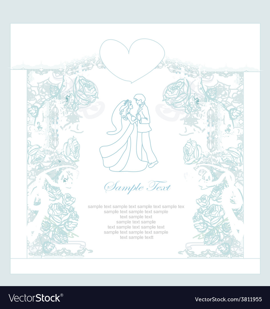 Invitation wedding dancing couple background vector | Price: 1 Credit (USD $1)