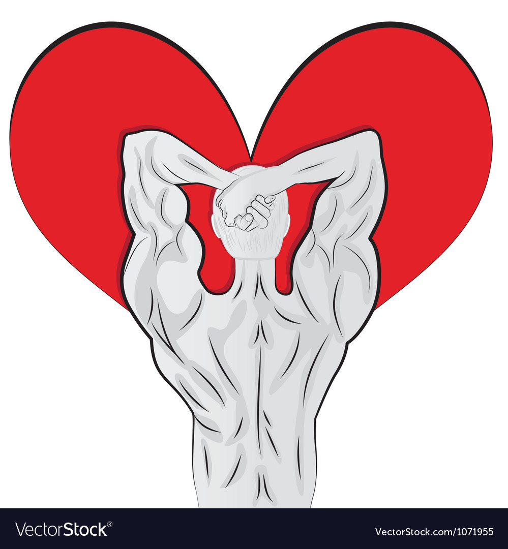 Man body shaped as heart for valentine day vector | Price: 1 Credit (USD $1)