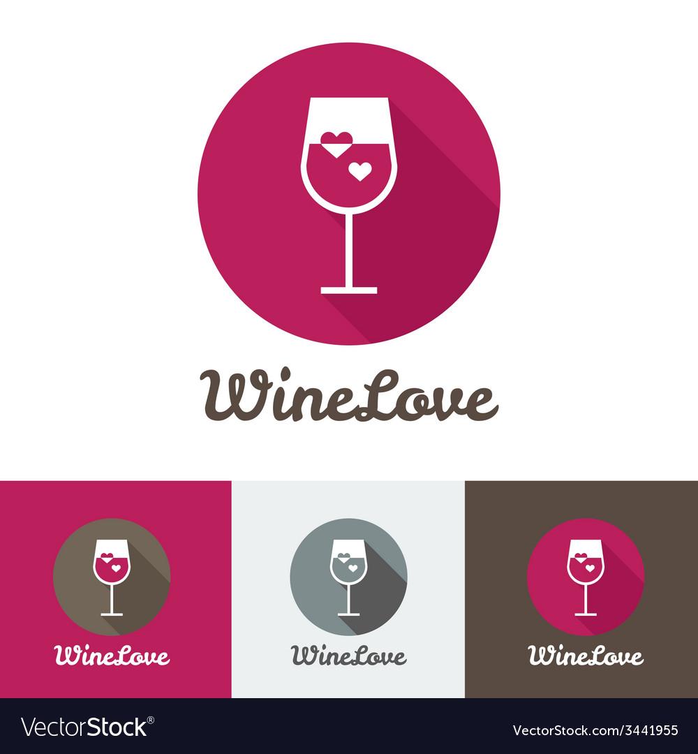 Modern flat wine shop restaurant or bar logo vector | Price: 1 Credit (USD $1)