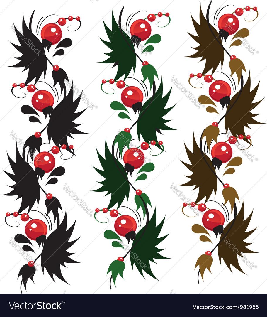Multicolored delicate ornament berry vector | Price: 1 Credit (USD $1)