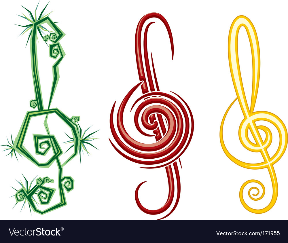 Music symbols vector | Price: 1 Credit (USD $1)