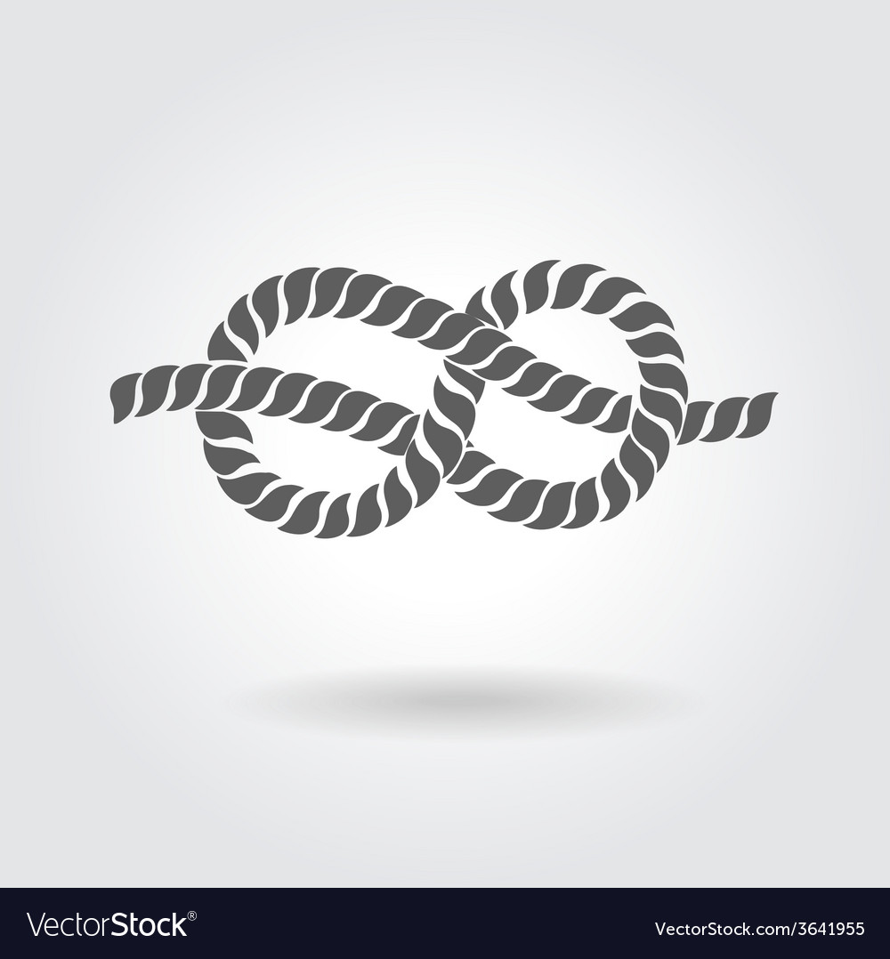 Rope eight knot vector | Price: 1 Credit (USD $1)