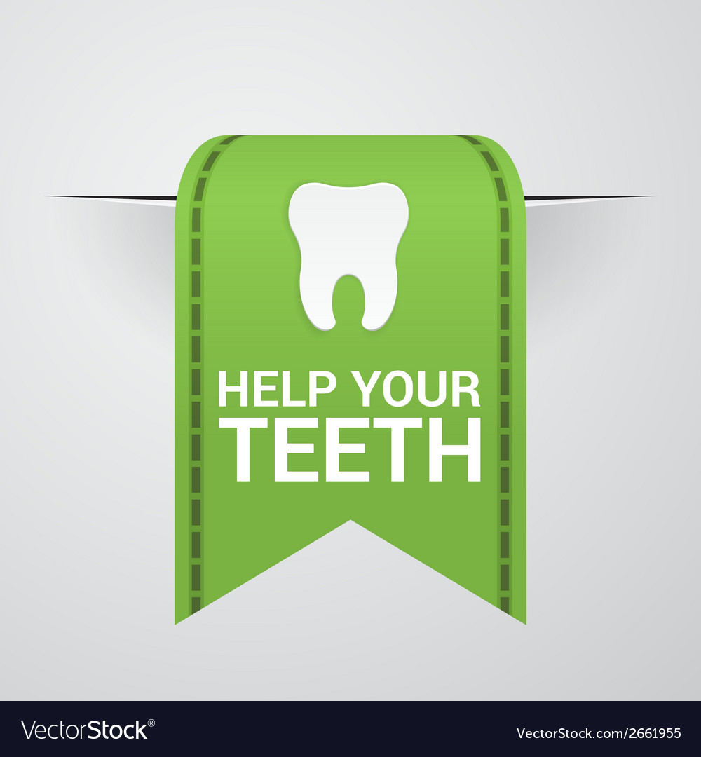 Ticket to help your teeth vector | Price: 1 Credit (USD $1)
