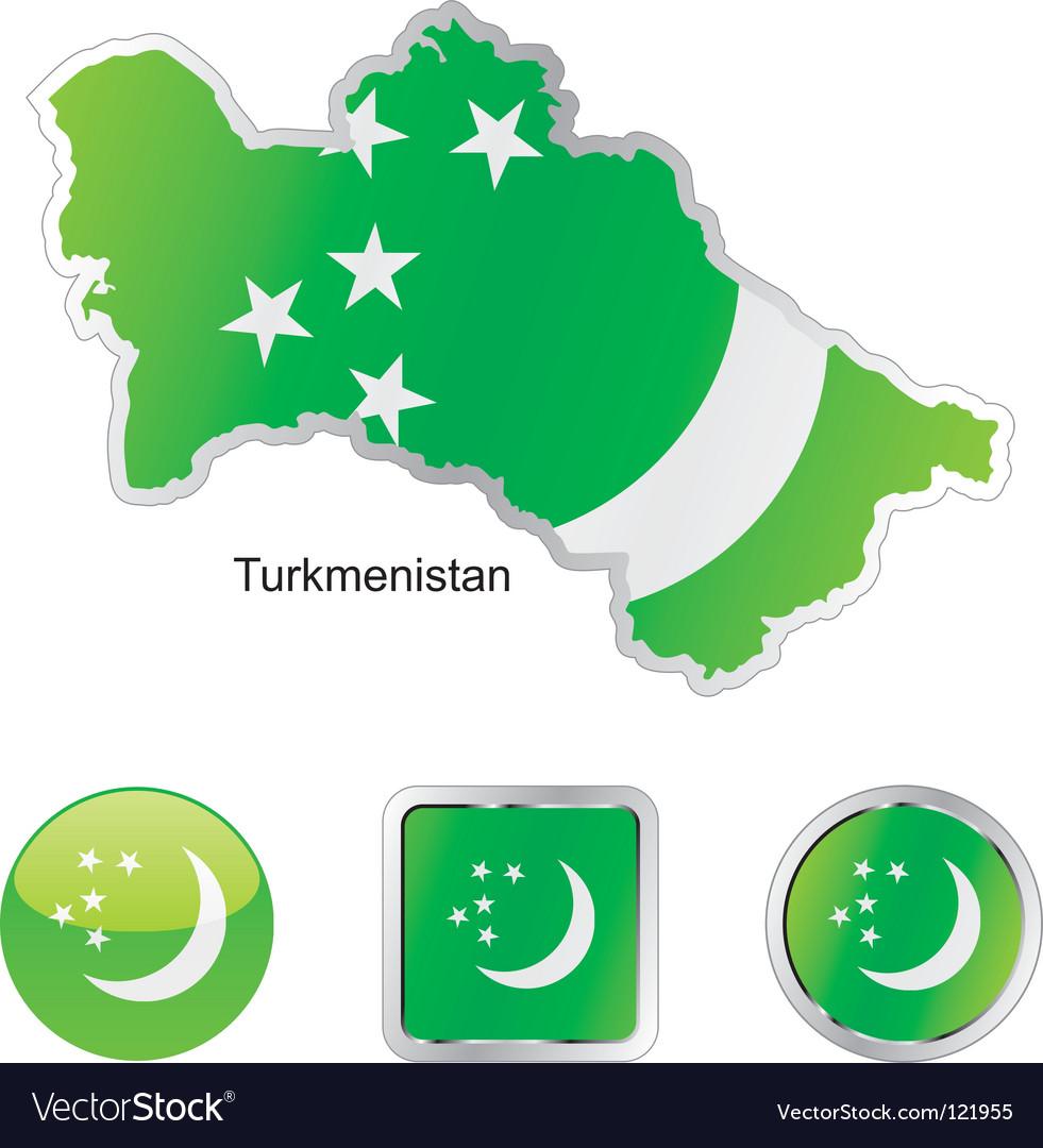 Turkmenistan vector | Price: 1 Credit (USD $1)