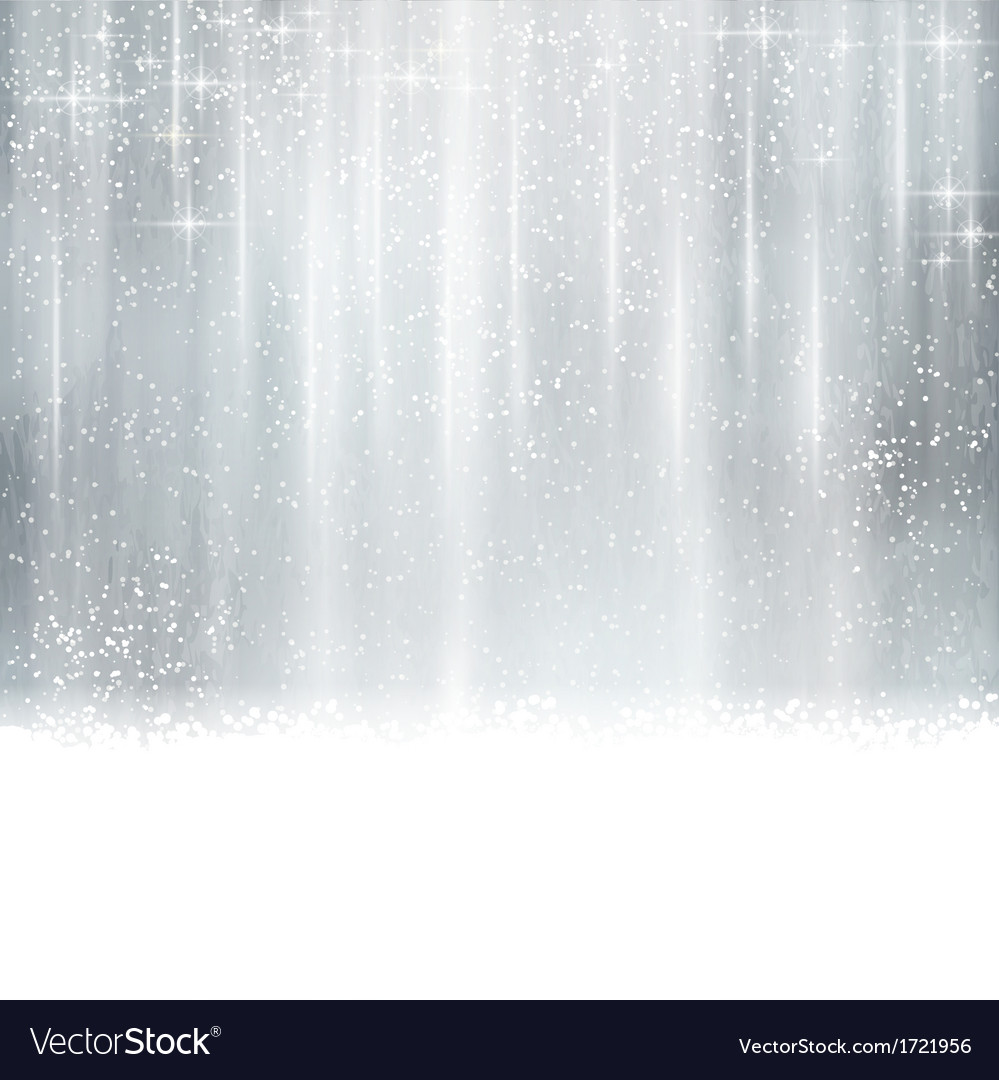 Abstract silver christmas winter background vector | Price: 1 Credit (USD $1)