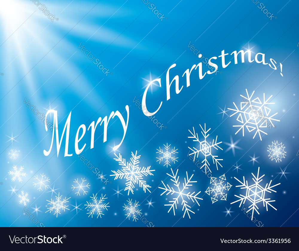 Blue background - merry christmas card vector | Price: 1 Credit (USD $1)