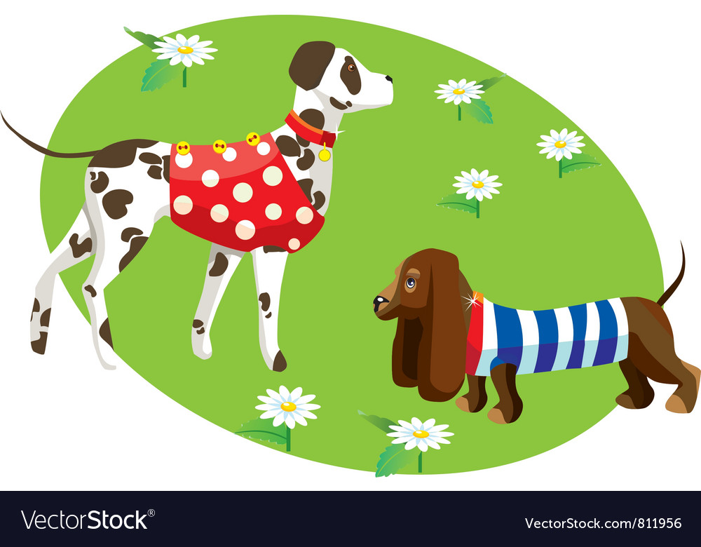 Dogs in clothes vector | Price: 3 Credit (USD $3)