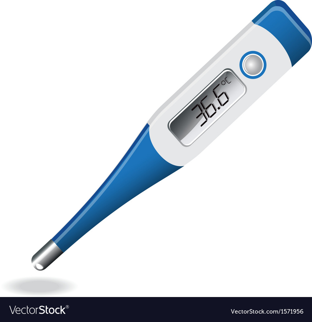 Electronic thermometer vector | Price: 1 Credit (USD $1)