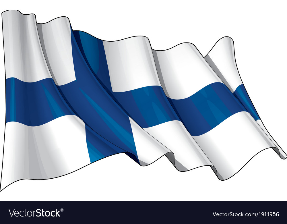 Finland flag grunge vector | Price: 1 Credit (USD $1)