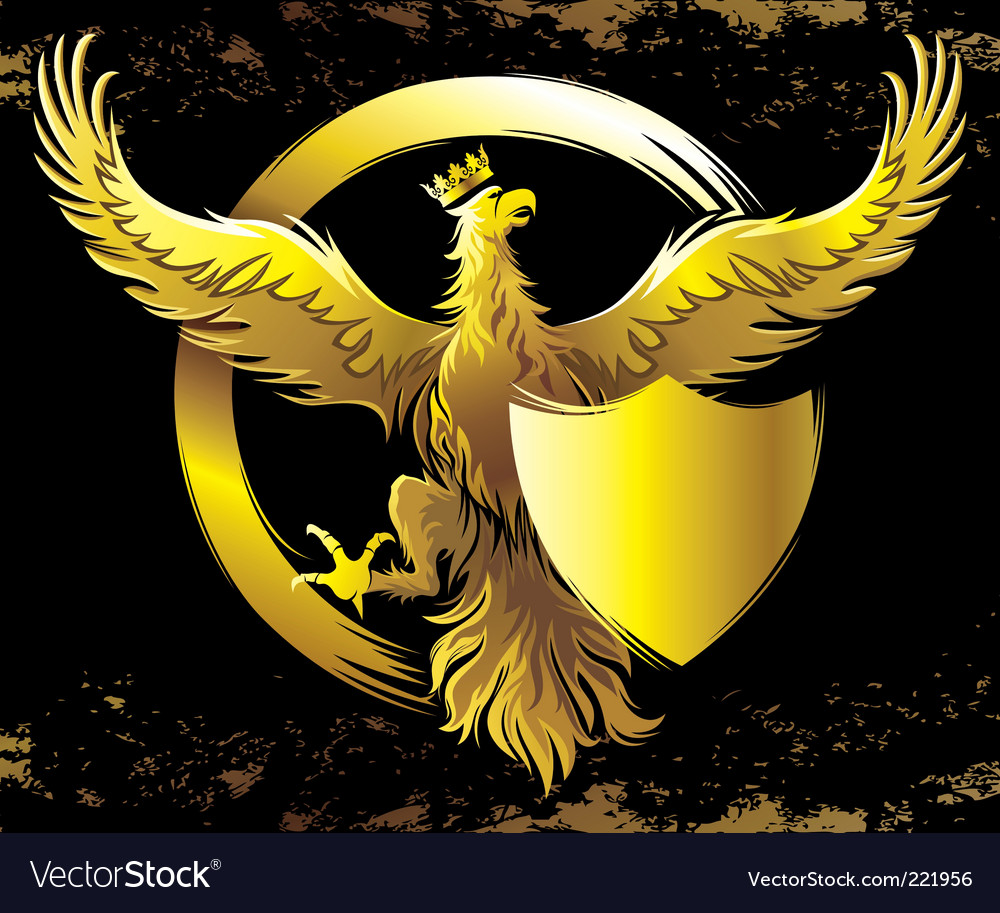 Golden eagle vector | Price: 3 Credit (USD $3)
