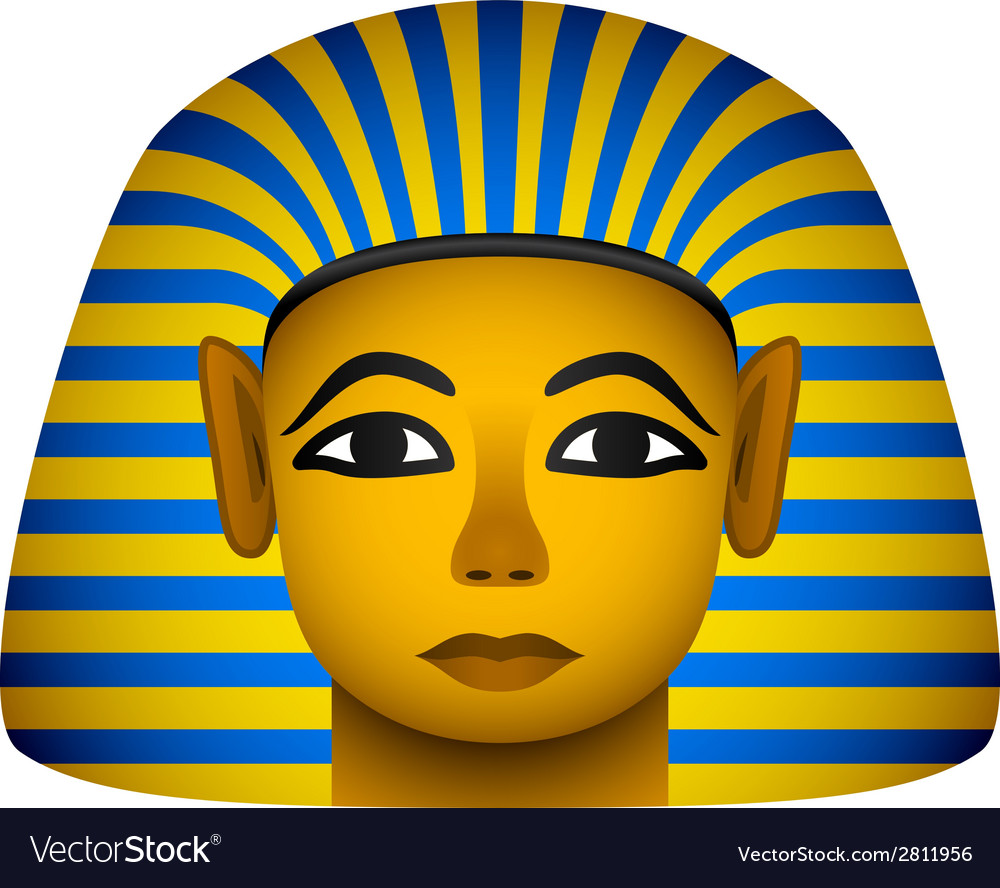 Golden mask of the egyptian pharaoh vector | Price: 1 Credit (USD $1)