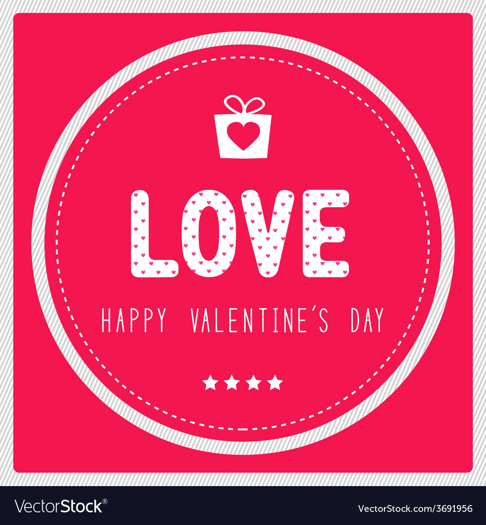 Happy valentine s day card3 vector | Price: 1 Credit (USD $1)