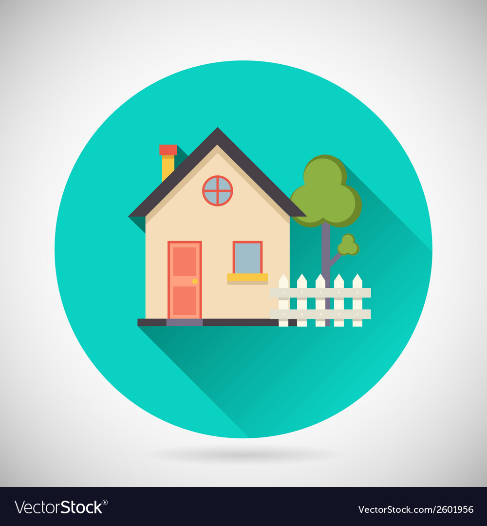 Real estate symbol house building private property vector