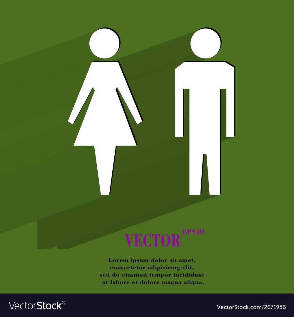 Suluet men women flat modern web button with long vector | Price: 1 Credit (USD $1)