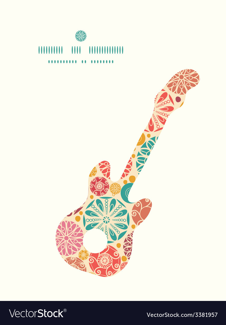 Abstract decorative circles guitar music vector | Price: 1 Credit (USD $1)