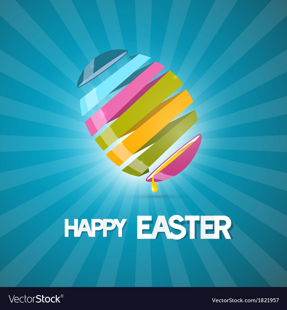 Blue easter background with 3d abstract egg vector | Price: 1 Credit (USD $1)
