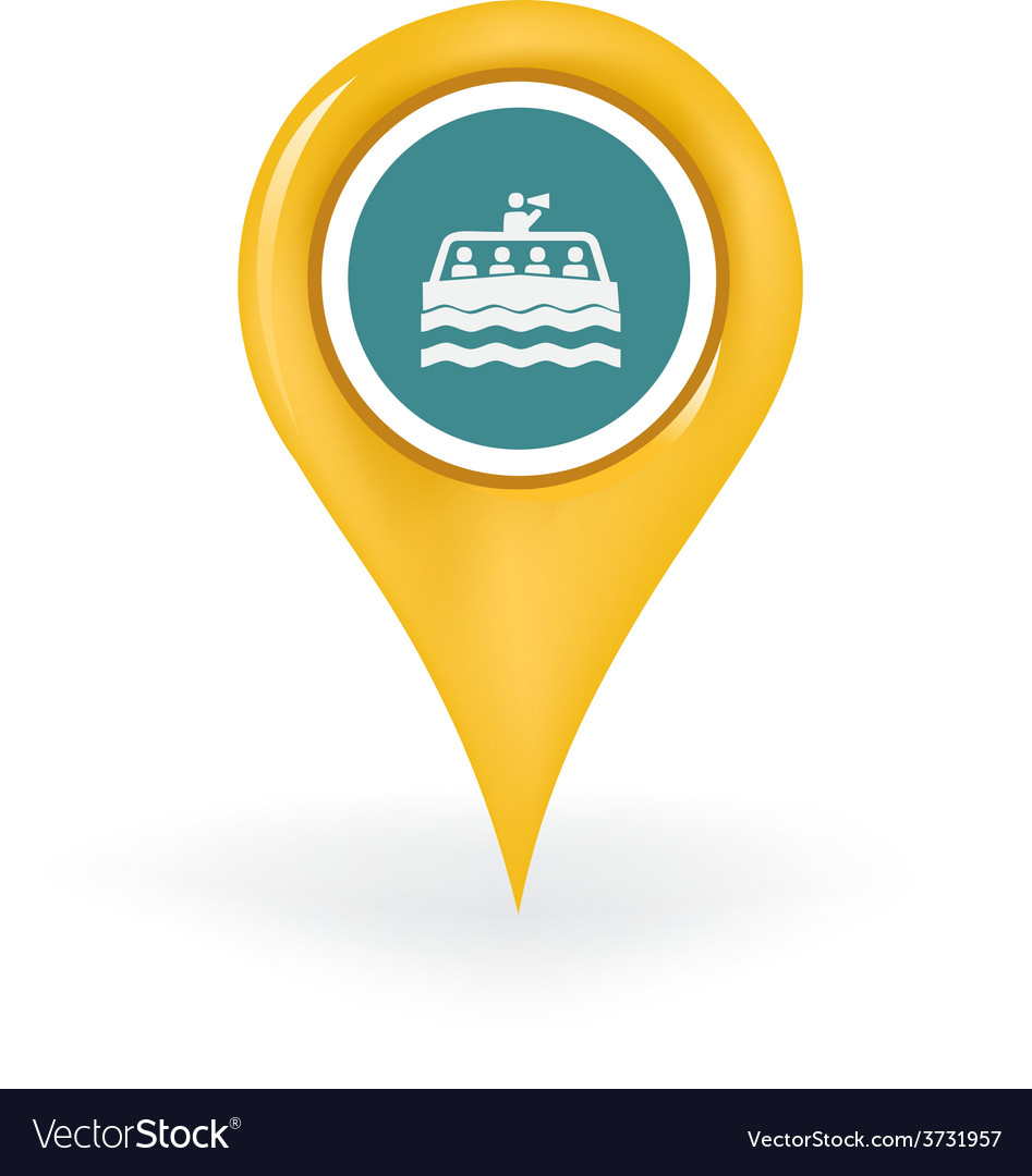 Boat tour location vector | Price: 1 Credit (USD $1)