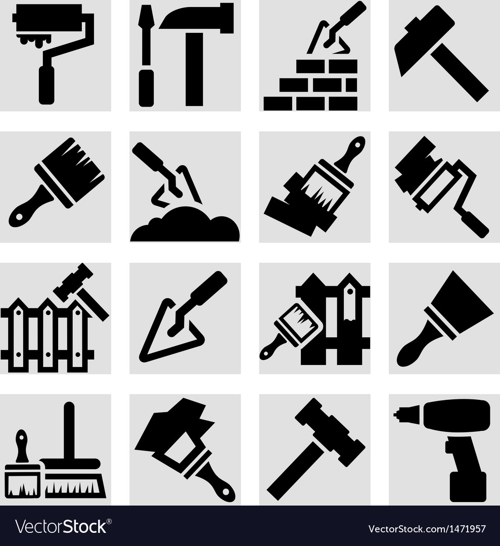 Construction and repair icons vector | Price: 1 Credit (USD $1)