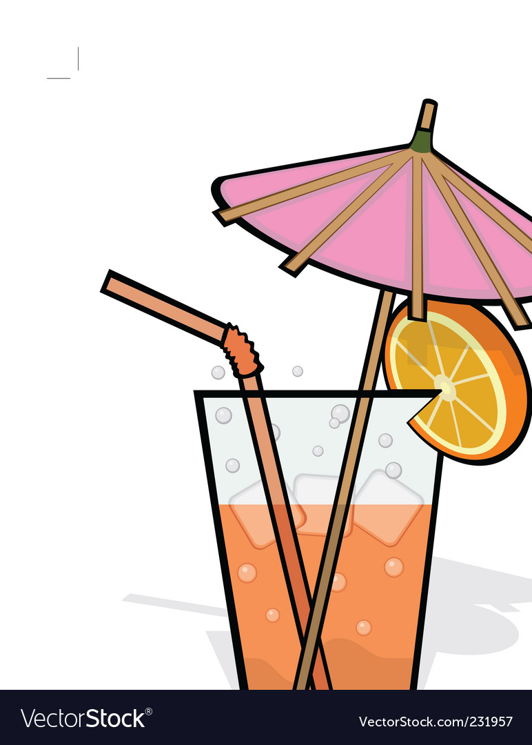 Cool refreshing drink vector | Price: 1 Credit (USD $1)