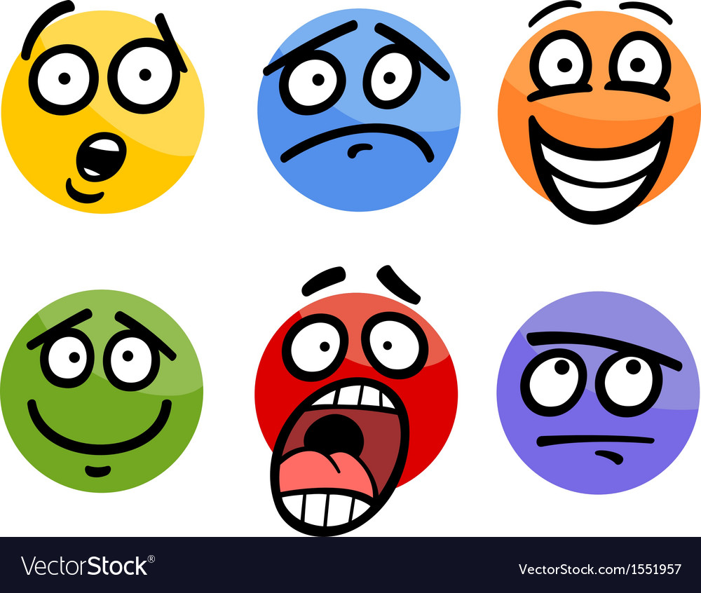 Emoticon or emotions set cartoon vector | Price: 1 Credit (USD $1)